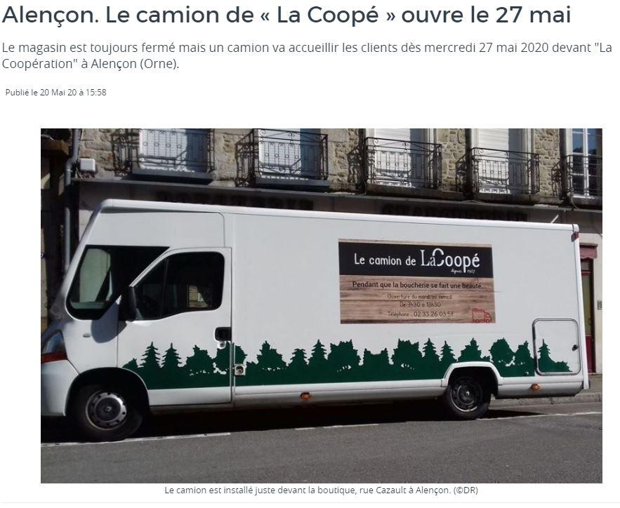 On parle de nous ... le camion de la Coopé à Alençon