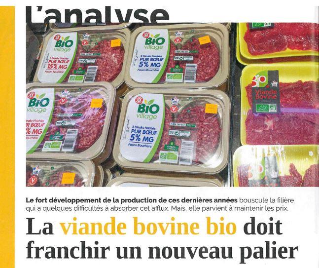 La viande bio bovine doit franchir un nouveau palier
