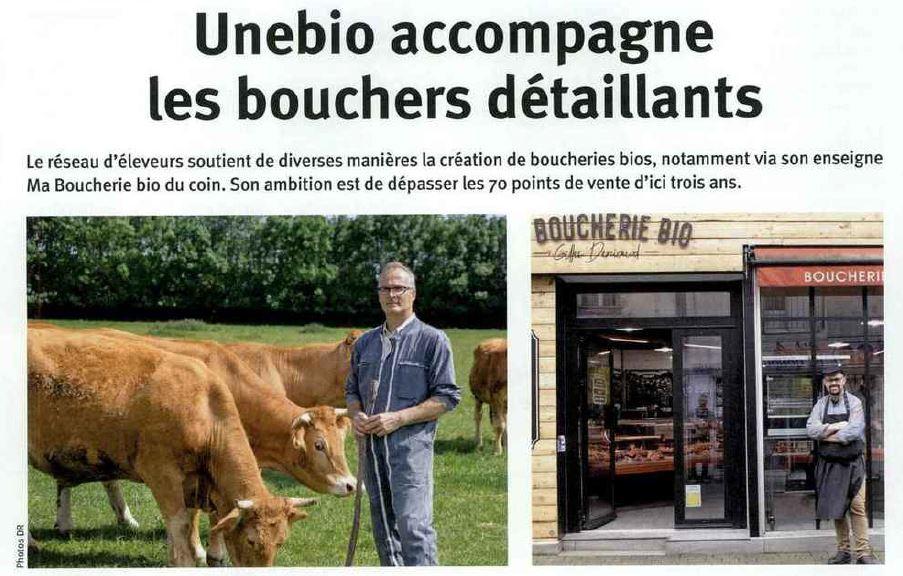 Unebio accompagne les bouchers détaillants : viandes bio