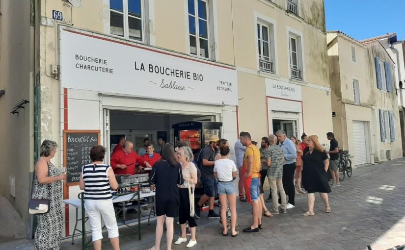 Inauguration de la boucherie bio sablaise